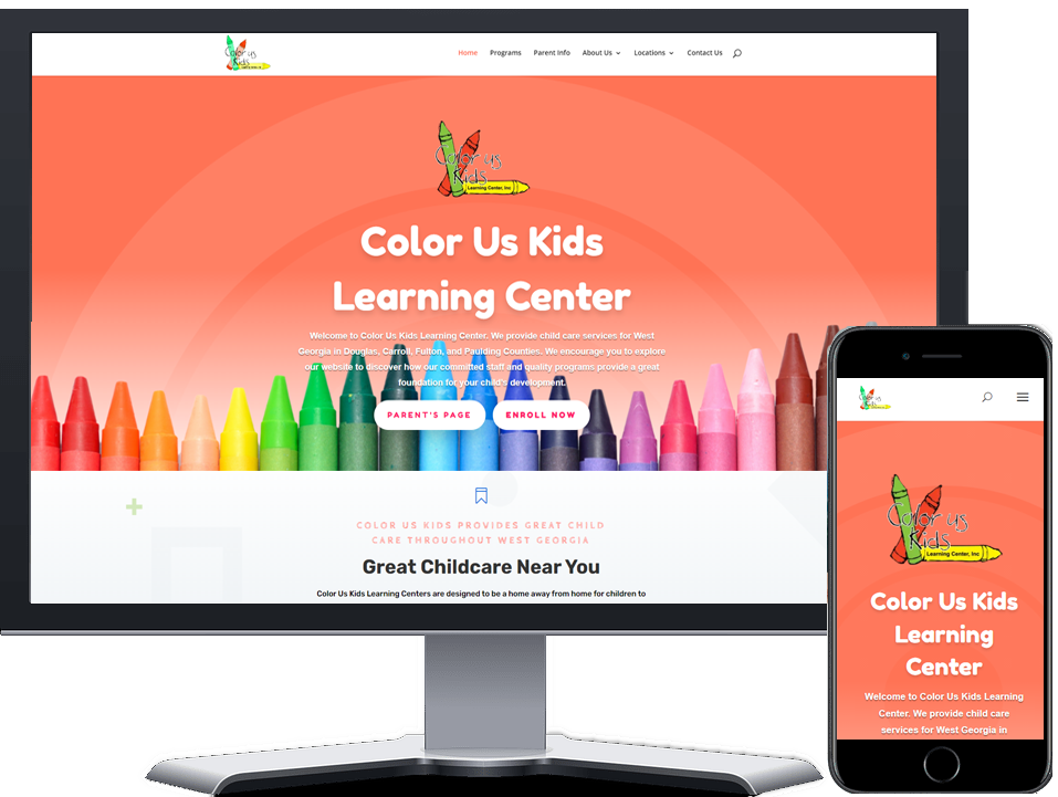 Color Us Kids Learning Center Website